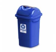 Lixeira 30 L basculante plasvale azul