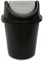 Lixeira 53 L C/Tampa basic preta plasnew
