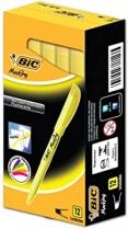Marcador de texto Bic amarelo (12 unid)