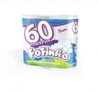 Papel Higiênico 60m Folha Simples 64 rolos Fofinho