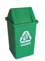 Cesto 30X24 4 L Verde C/Logo vidro