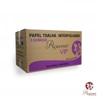 Papel Toalha Interfolha 3 Dobras light 23X23cm 100% Celulose 2400 folhas Açucena
