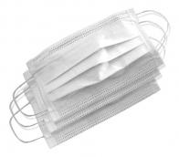 Mascara TNT Tripla com Clip Nasal Caixa com 5 Unidades