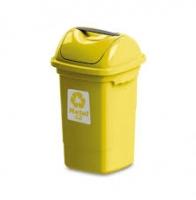 Lixeira 30 L basculante plasvale amarela