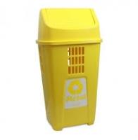 Lixeira 50 L Basic plasvale amarela sel metal