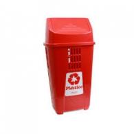 Lixeira 50 L Basic plasvale vermelha plástico
