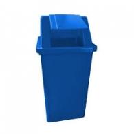 Lixeira cesto quadrado Bralimpia 80 L Azul