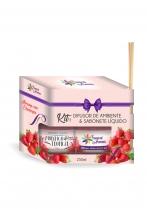 Aromatizante Difusor e Sabonete Morango 250ml Tropical Aromas