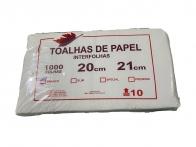 Papel Toalha Interfolha 20x21cm Branco 1000 folhas Feaf