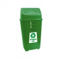 Lixeira 50 L Basic plasvale verde vidro