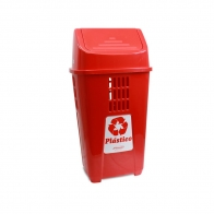 Cesto 30X24 14 L Vermelho C/Logo Plast