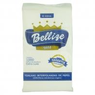 Papel Toalha Interfolha 20x21cm 100% celulose 1000 folhas Bellize