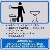 Placa aviso banheiro 14X15 Alumínio