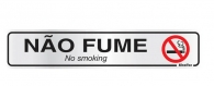 Placa Sinalizadora Não Fume 5X90 Alumínio
