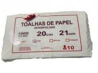 Papel Toalha Interfolha 20x21cm 100% celulose 1000 folhas Feaf