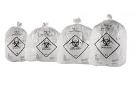 Saco de Lixo Branco Infectante 15 litros c/100 unidades