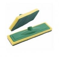 Rodo Esponja Verde Amarelo com Cabo Sanches