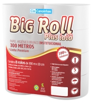 Papel Higiênico Rolão 100% 8X300 Big Roll