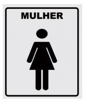 Placa P/WC Mulher 14X15 Alumínio